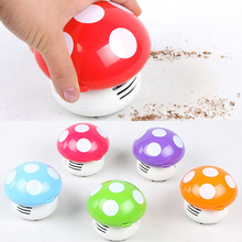 Cute Mini Mushroom Corner Desk Table Dust Vacuum Cleaner Sweeper House Cleaning Accessories Tools EZLIFE(China)