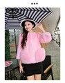 4 Цветов Плюс Размер Европа Новый Горячей Продажи Женщин Верхняя Одежда Имитация Норки Куртка О-Образным Вырезом С Длинными Рукавами Карман Полупальто