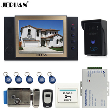 "JERUAN 8"" LCD SCREEN video door phone doorbell intercom system home access control system RFID video recoreding + power supply"