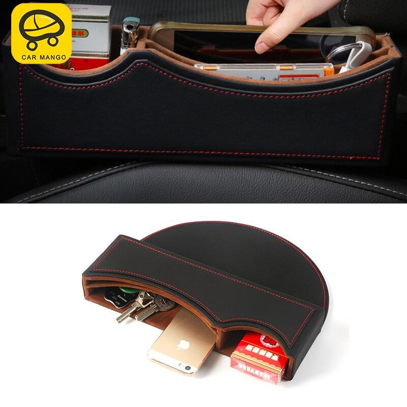 CARMANGO For Volkswagen Atlas 2017 2018 Auto Car styling Seat gap storage box solid wood storage box Interior Accessories