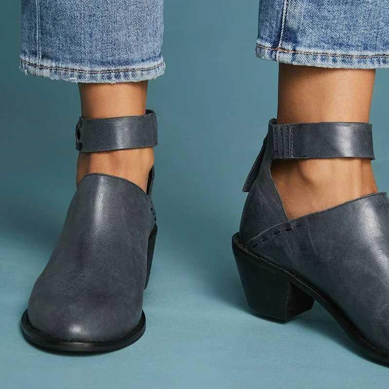 Mắt Cá Chân Giày Giày Bốt Nữ Da PU Nữ Mùa Đông Giày Dày Gót Giày Nữ Mùa Đông Giày Khóa Kéo Bota Nữ Boot Botas mujer