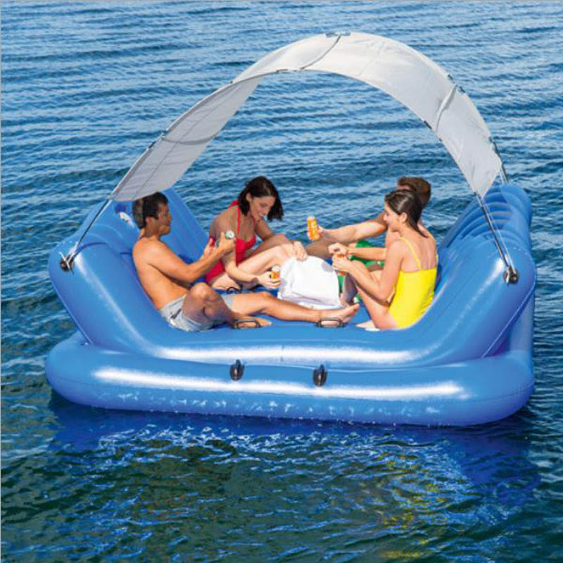 Ocean Paradise Lounge Chair Floating Row Floating Bed Floating Rest Water Row Swimming Opblaasbare Zwembad Speelgoed Boia adilux 0999