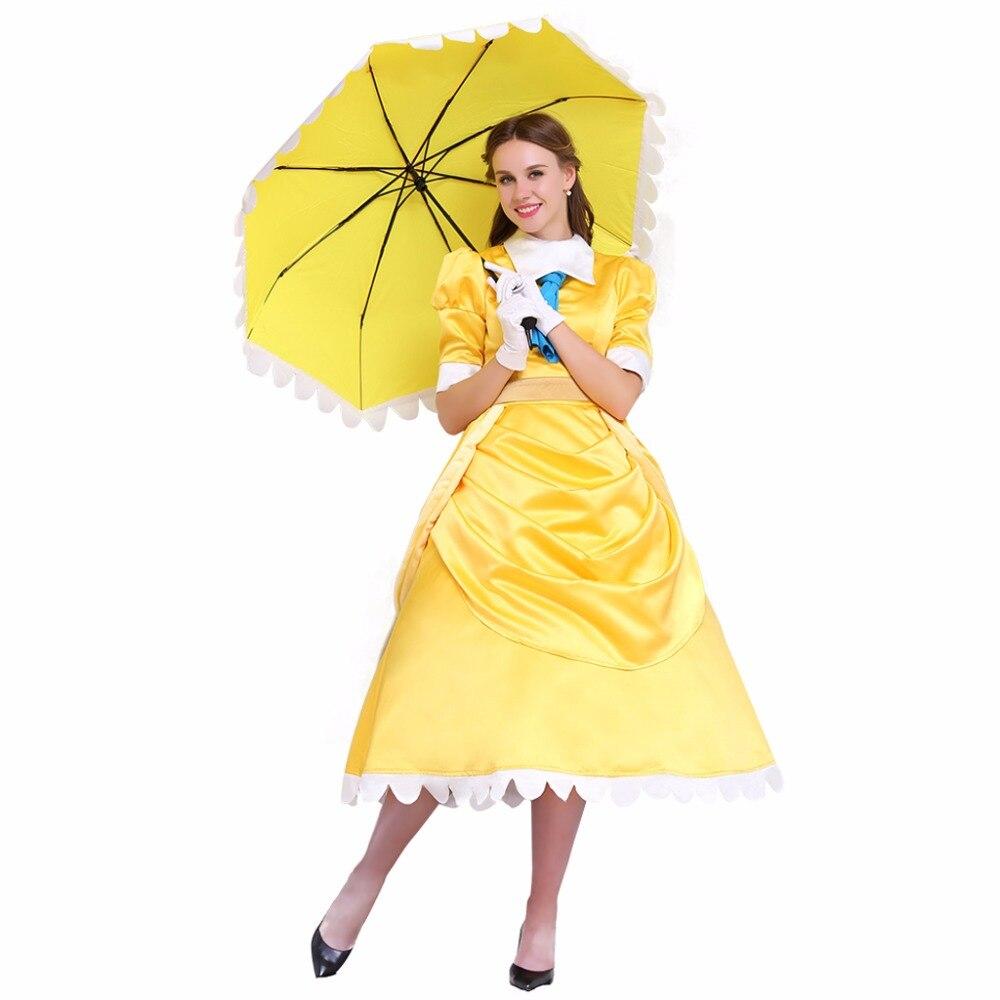 Cosplaydiy Custom Made Tarzan Jane Cospaly Dress Adult Women Party Yellow Dress
