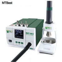 MTBest Blei-frei Einstellbar Hot Air Rework Station Löten Touchscreen LCD 1200 W 863 Für Telefon CPU PCB reparatur Power Tools