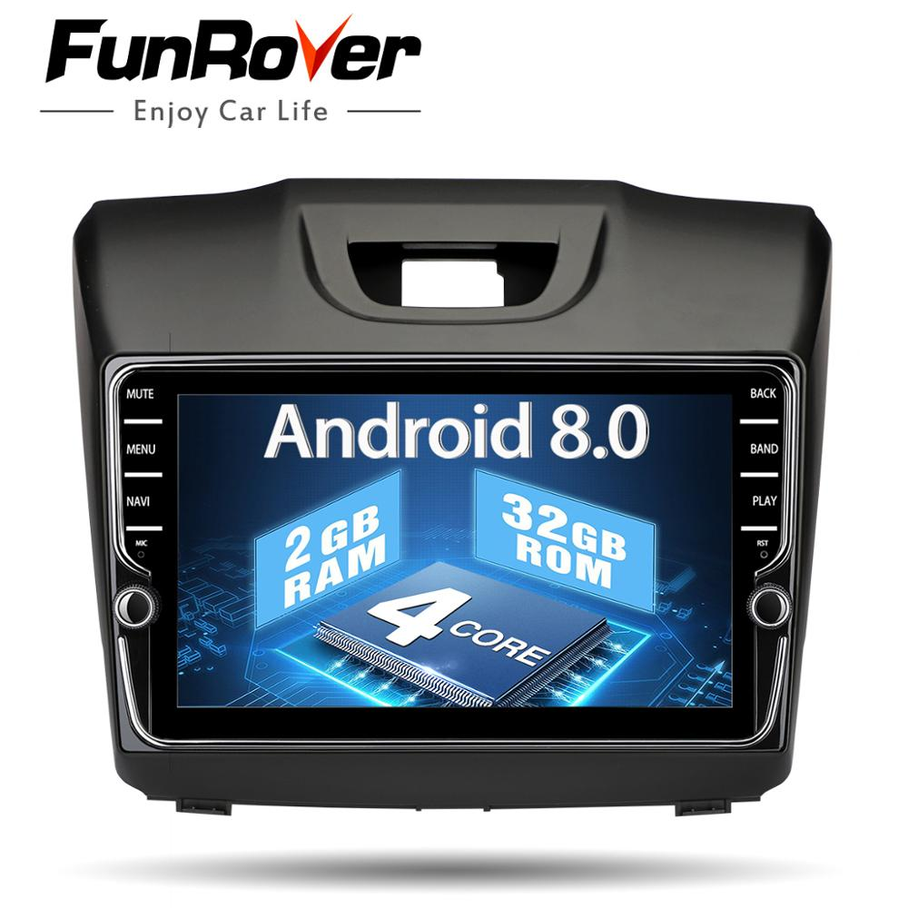 Funrover IPS 2 din Car DVD Navigation multimedia Player for Chevrolet Trailblazer Colorado S10 Isuzu D-max MU-X Radio stereo rds цена