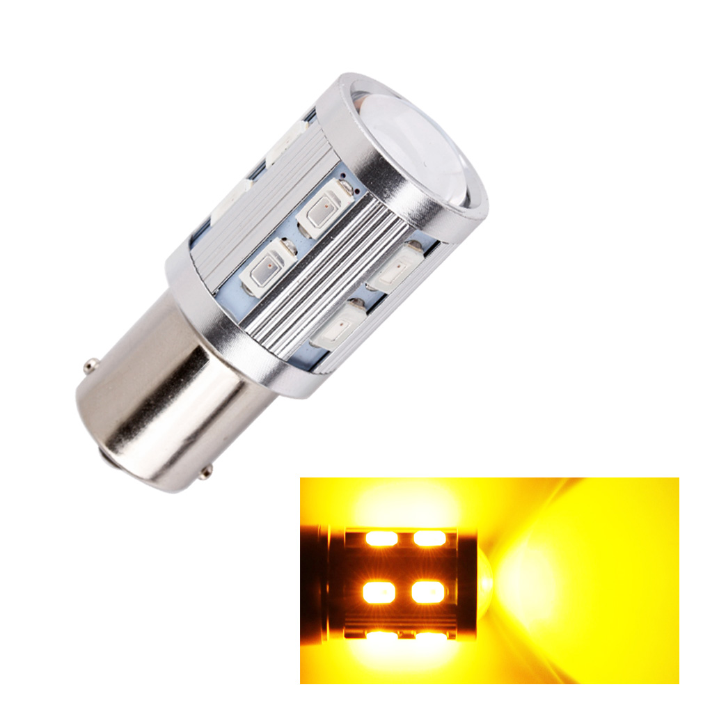 1156 BA15S <font><b>12</b></font> <font><b>SMD</b></font> 5730 Led Chip p21w R5W Car LED bulb Reverse Brake Light Turn Signal Light Source parking 12V Amber Yellow image