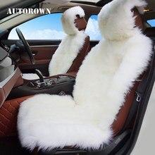 AUTOROWN Роскошные авточехлы 100% Австралийской овчины Осень-Зима Универсальный размер Меховые накидки на авто Мягкие и комфотные Накидки на сиденья автомобиля из овчины Авто накидки для Лексус, Лада Гранта, BMW, Audi