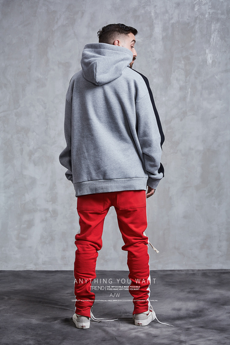 Aolamegs Hoodies Men Side Striped Hood High Street Pullover Cotton Fashion Hip Hop Streetwear Casual Big Pocket Hoodie Autumn (23)