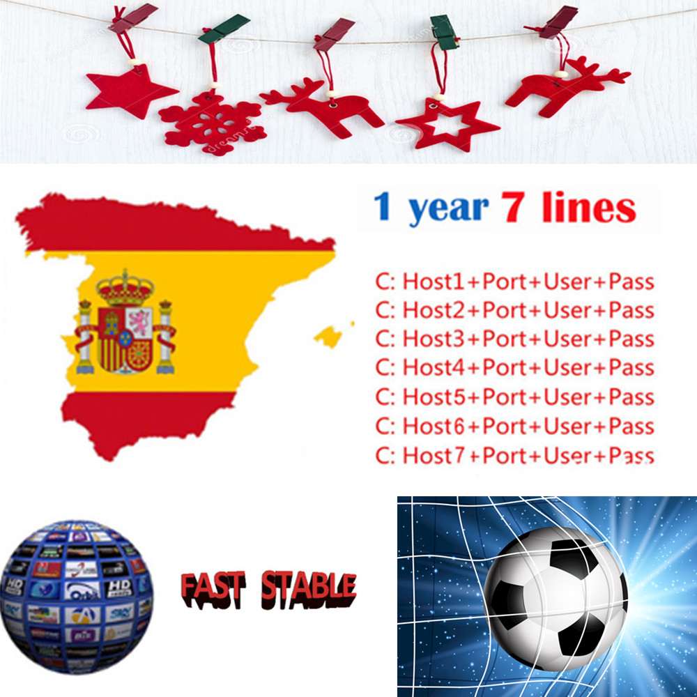 2019 Fast And Stable CCCAM Europe Cline Server 1 Year 7 Lines For Spain Portugal Italy Germany Support DVB S2 V7S HD TV Receiver