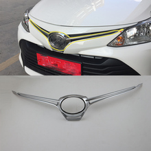Car body kits ABS chrome front grill cover Sticker For TOYOTA VIOS 2017