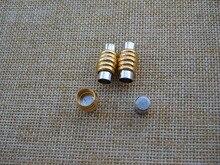 5 компл. золото 18 * 10 мм магнитной застежкой для 6 мм круглый кожаный браслет аксессуары и украшения выводы