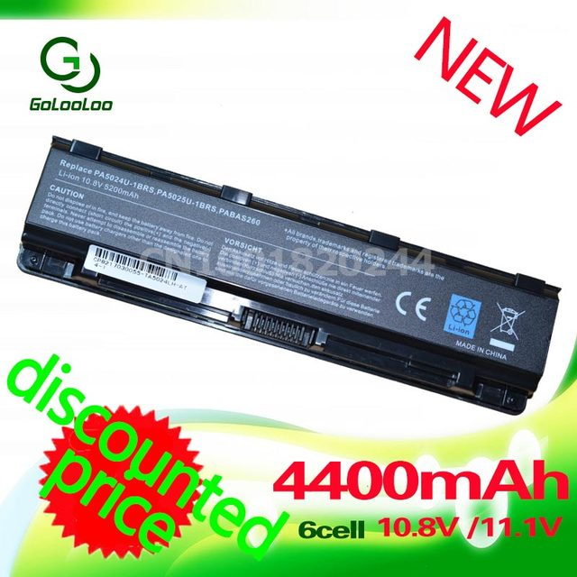 Golooloo 4400 mah bateria para toshiba satellite s840d s845d s845 s850 s855 s850d s855d s875d s875 s870d s870