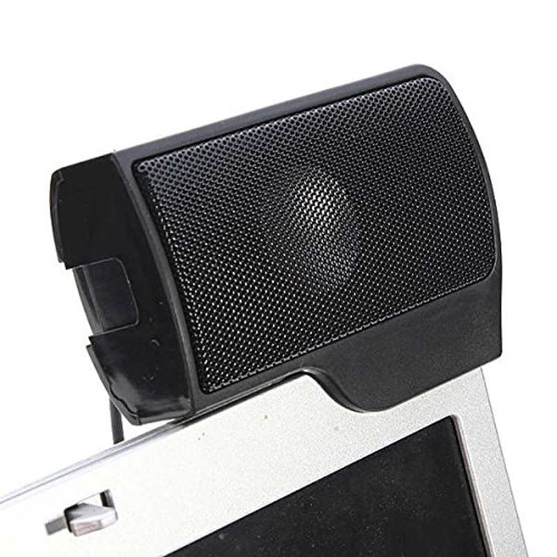 Mini Clip-on USB Stereo Speaker Audio Speaker Musicbox Controller Controller for Laptop Notebook PC Computer