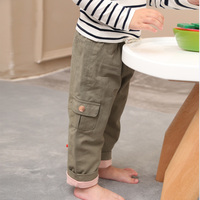 New Children Trousers for Boys&Girls Cotton Long Trousers Autumn Winter Thick Casual Pants Kids Clothing 1 5Y BC484