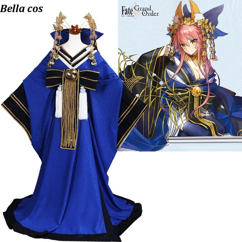 Fate Grand Order FGO Tamamo Cat Maid Dress Servant Uniform Cosplay Costume Set