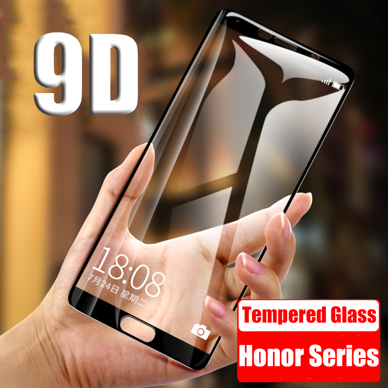 On Honor 8X 9D Protective Glass for Huawei Honor 7A 7X 7C Pro 8X 8 Pro 9 Lite View 10 V10 V9 Honor9 9H Tempered Screen Protector(China)