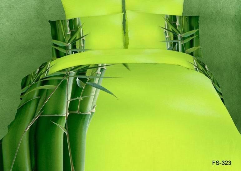 Yellow Green Bamboo Bedding Set Queen Size Quilt Duvet