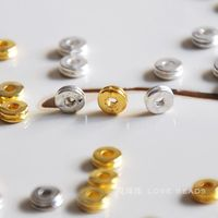 Beads Beads Tibetan Silver Gold And Silver Double Layer Plate Beads Septate Diy Bracelet Necklace Handmade
