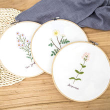 DIY Lint Bloemen Borduren Set voor Beginner met Hoepel Handwerkpakketten Kruissteek Serie Arts Ambachten Naaien Decor Naald Art(China)