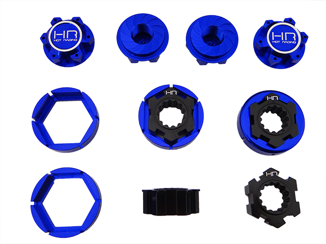 Hot Racing Traxxas X-Maxx  XMX10X06 ALUMINUM HUB 24MM WHEEL LOCK SET XMAXX NEW NIP 2pcs traxxas original 1 5 x maxx tires wheels tire tyre for 1 5 traxxas x maxx rc monster truck model 7772