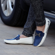 Fashion Summer Spring Men Driving Shoes Loafers Leather Boat Breathable Male Casual Flats