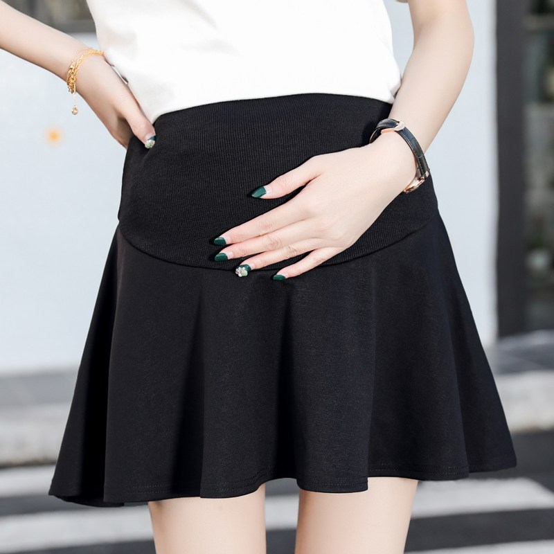 Maternity skirt spring and summer new tide mother wear pregnant women stomach lift loose a word skirt pleated skirt