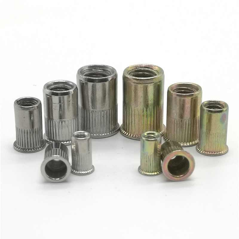 5-20Pcs M3 M4 M5 M6 M8 M10 304 Stainless Steel or Carbon Steel Rivet nut Small Countersunk Head Riveted Nut Insert Cap Rivet Nut