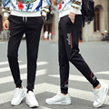 2016 spring section of the new men's trousers simple black men's nine pants Slim Korean fashion pants feet pants