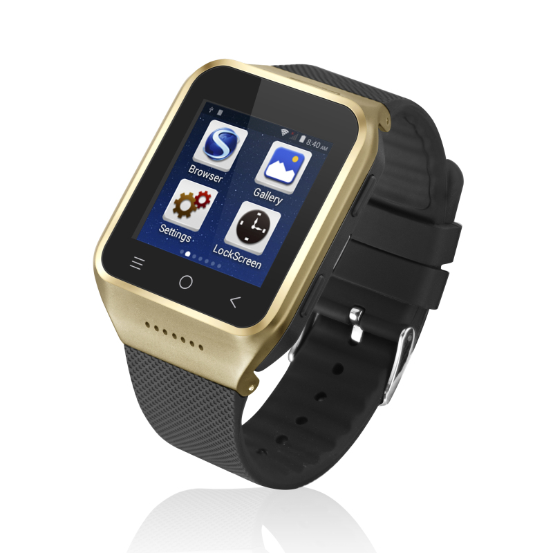 ZGPAX S8 1.54 Bluetooth Smart Watch Phone MTK6572 Dual Core Android Smartwatch 2.0MP Cam SIM 3G WiFi GPS 512MB 4GB Wristwatch