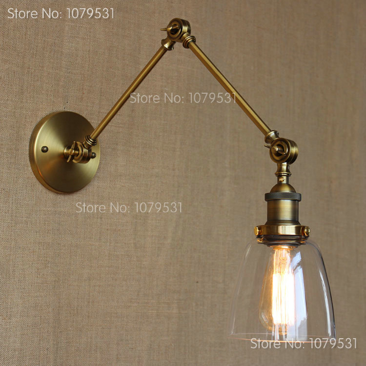 retro two swing arm wall lamp glass shade sconces rh bedside light fixturewall mount bedside lighting wall mounted