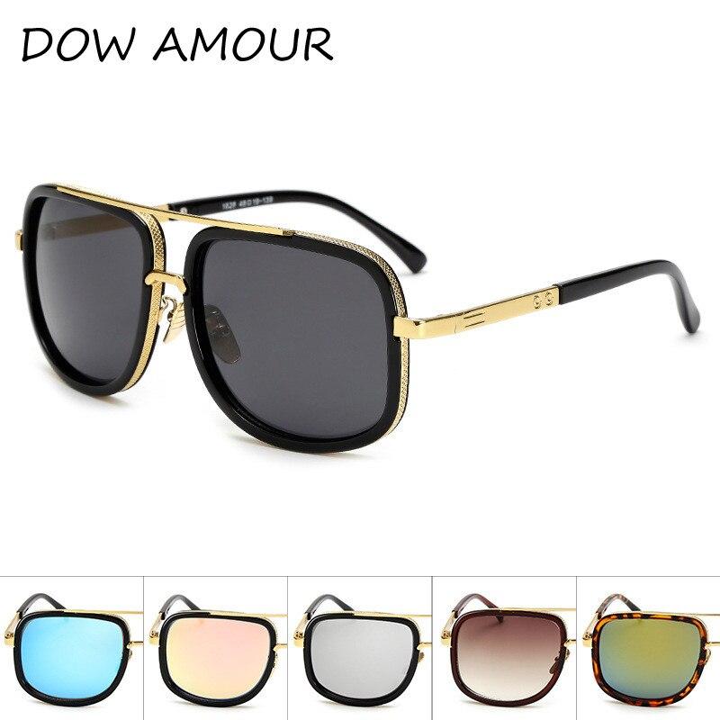 474227b840 2017 Brand Designer Sunglasses Men Women Retro Vintage Sun glasses Big  Frame Fashion Glasses Top Quality Eyeglasses UV400-in Sunglasses from  Apparel ...
