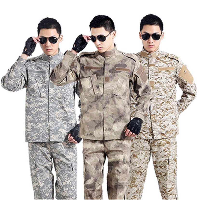 8Color Tactical Camouflage Military Uniform Usmc ACU Combat  Men Army Clothes Pants Set Soldier Special Forces Costume for Man