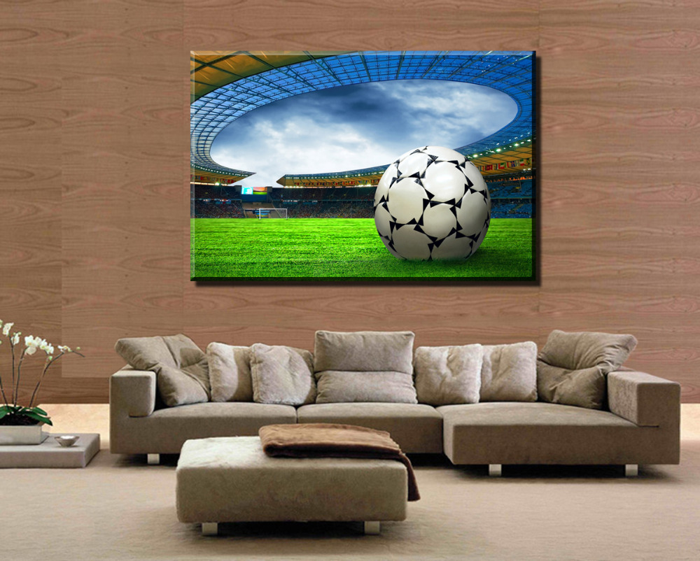 Painting Canvas For Living Room Online Get Cheap Football Canvas Aliexpresscom Alibaba Group