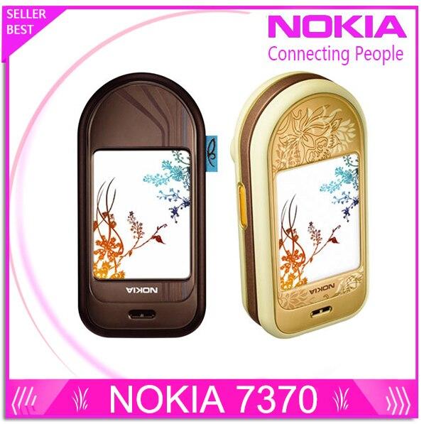 7370 Оригинальный разблокирована Nokia 7370 мобильный телефон Bluetooth Камера Vedio FM Классический дешевый сотовый телефон отремонтированы 1 год гаран…