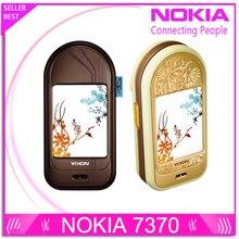 7370 Оригинальный разблокирована Nokia 7370 мобильный телефон Bluetooth Камера Vedio FM Классический дешевый сотовый телефон отремонтированы 1 год гарантии