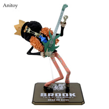 Anime Cartoon Two Years Later One Piece Brook PVC Action Figure Collectible Model Toy Gift 18cm KT436