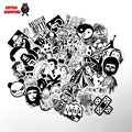 60 UNIDS negro mix estilo sucio mal chiste sexual chica pegatina redonda bomba graffiti Doodle impermeable etiqueta decal monopatín etiqueta del juguete