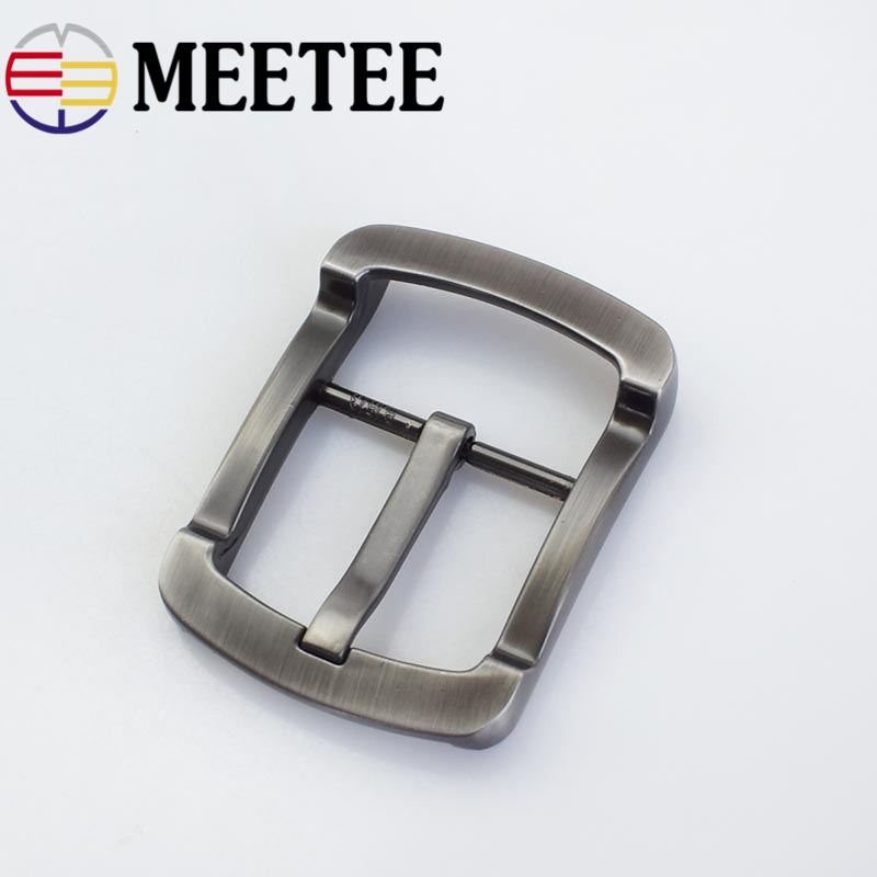 Meetee 40mm Men's Belt Buckle Matte Gun Color Pin Buckle Suitable for 38mm Wide Belt Mens Jeans Accessories Diy Leather Craft