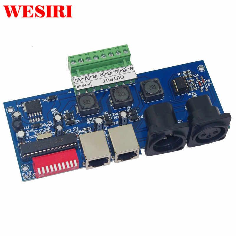 -Alta Potência Constante Atual 350MA * 3 Canal DMX512 3CH DMX512 Decodificador para RGB LED Da Arruela Da Parede RGB Controlador lâmpada de Luz de Inundação