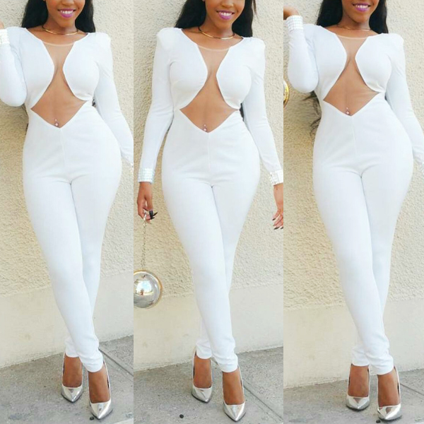 White Jumpsuit Romper Breeze Clothing