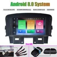 Восьмиядерный Android 8.0 dvd плеер автомобиля для Chevrolet Cruze 2008 2011 Авто Радио Стерео GPS навигации