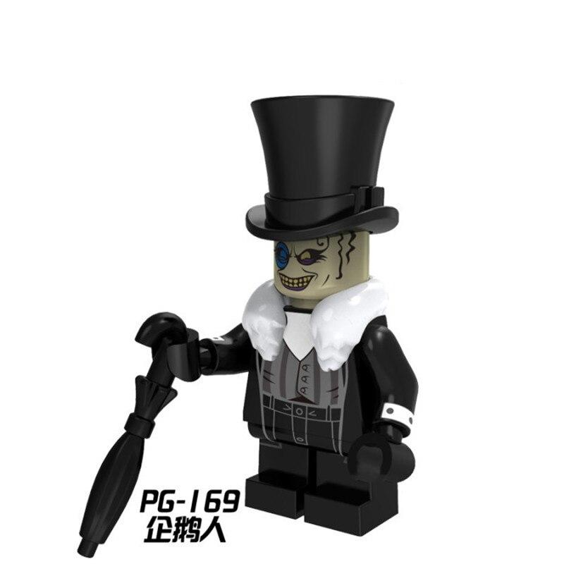 Single Sale PG169 Evil Penguin Crafty Face Bad Guy DC Super Heroes Batman Movie Building Blocks Toys Kids Gift Toys PG8045