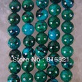 "New 8mm Round Ball Brazilian Azurite Loose Beads 16"" for Pendants Bracelets Earrings Necklace Making Bulk Wholesale"