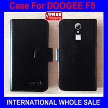 Hot! 2016 F5 Case DOOGEE Phone, New Arrival 6 Colors Factory Price Flip Leather Exclusive Cover For DOOGEE F5 4G Case Tracking