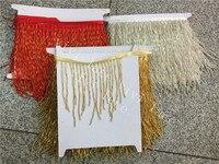 10 yards/bag f019# gold/silver/red wave beads tassel fringe 9 13 cm width for decoration dress/fashion designer  tassel fringe beaded tassel fringe decorative tassel fringe -