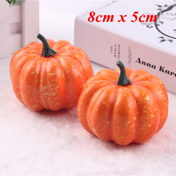 16pcs/Pack Mini Foam Pumpkin For Thanksgiving Fall Halloween Table Decor Vase Filler DIY Centerpieces Wedding Decorating 2