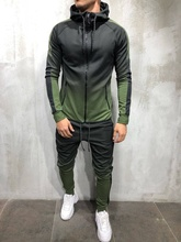 ZOGAA Men's Sportswear Two Piece Set Mens Casual Hooded Sports Wear Men's Tracksuit Training Sweat Suit Men Track Suit M-3XL zogaa new men s casual tracksuit two piece set sportswear elastic waist pants letter printed hooded unique sports set sweat suit