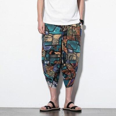 Полосатые спортивные штаны с трафаретным принтом, уличные мужские спортивные штаны с эластичной талией, спортивные штаны для бега - Цвет: color17