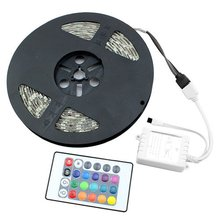 Светодиодная лента 5 м 3528 SMD гибкий светильник AC/Dc 12 V fita De Led Водонепроницаемый IP65 и 24 клавиши Управление(только в том случае, цветная(RGB