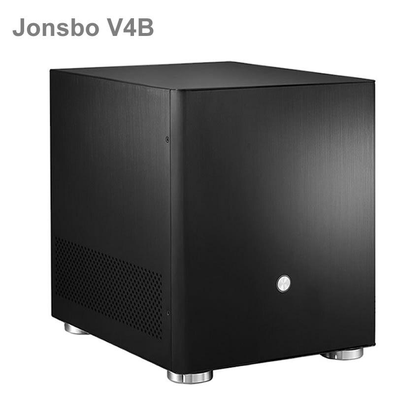 Jonsbo V4 Argent En Aluminium Mini ITX MATX Boîtier de l'ordinateur USB3.0 jeu petit châssis V4B Noir HTPC ITX soutien 3.5 ''HDD